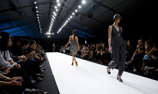Fashion - models on a catwalk