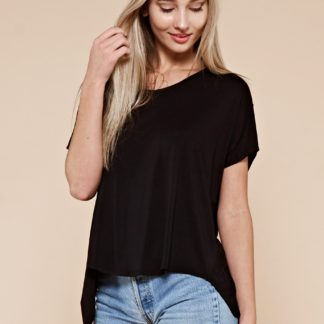 Dolman sleeve cupro knit top