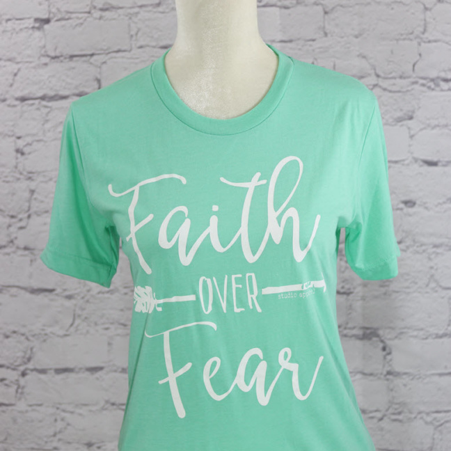 """Faith over Fear"" crew neck T-Shirt"
