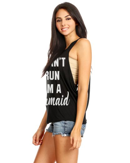 I can't run I'm a mermaid muscle tank top