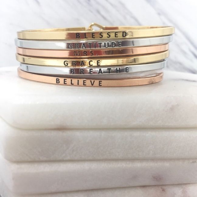 Inspiration stackable bracelet