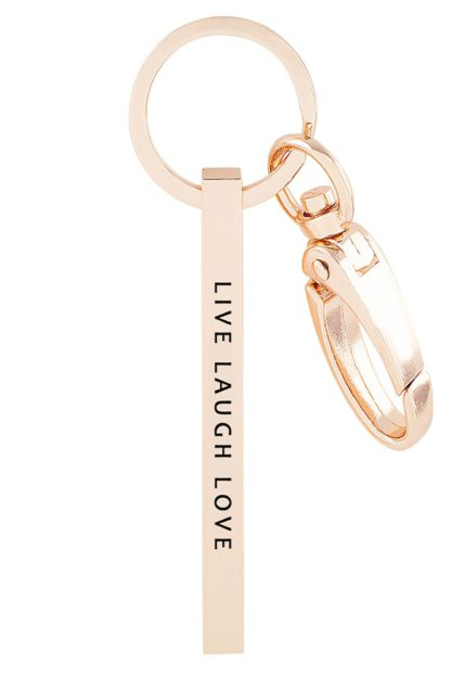 `LIVE LAUGH LOVE` Metal bar key chain