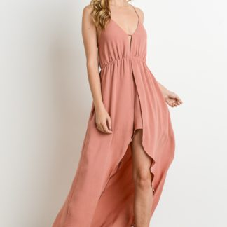 Maxi dress (romper with Maxi overlay)