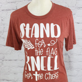 Stand for the flag, kneel for the cross crew neck T-shirt