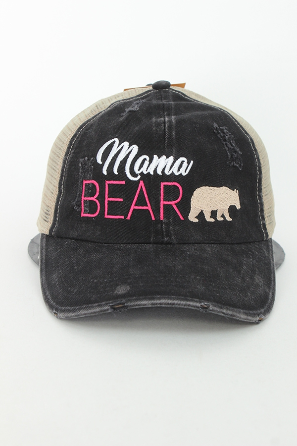 Mama Bear washed baseball cap - Ivy and Pearl Online Boutique 8d7566d59bfc