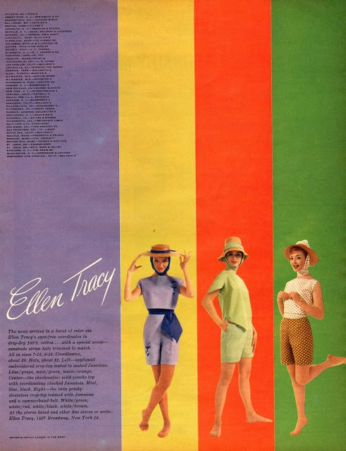 1960's ad for Ellen Tracy clothing.