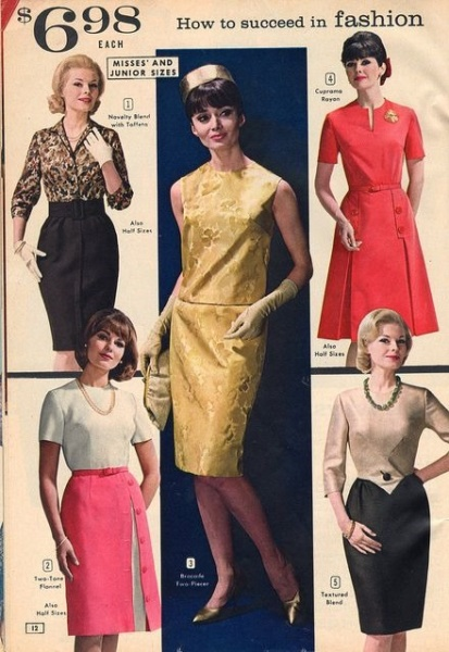 1960's Sears women's clothing ad