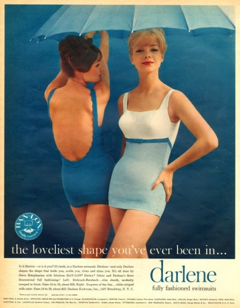 Ad for Darlene swimsuits circa 1960