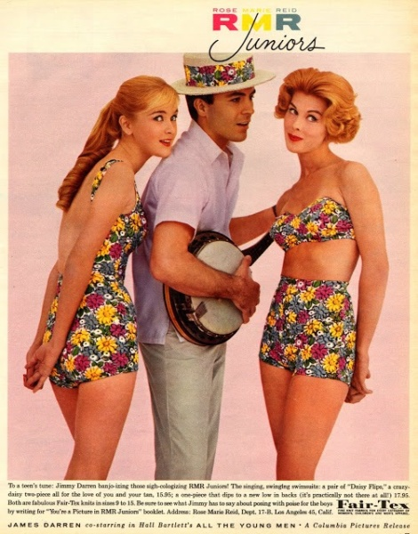 Ad for Rose Marie Reid swimsuits circa 1960's