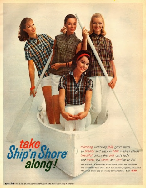 Ad for Ship N Shore shirts