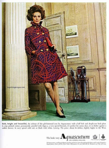 Aquascutum ad from the 1960's