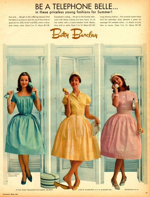 Betty Barclay dresses advertisement from the 1960's