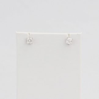Simulated diamond (Cubic Zirconia Diamond-quality Grade 5 ) stud earring (5mm)