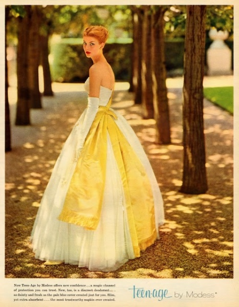 Dress by Modess from the Teen-Age line, circa 1963