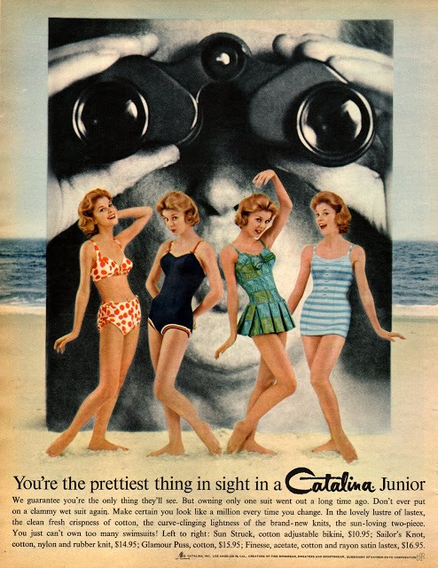 Early 1960's advertisement for Catalina Junior bathing suits.