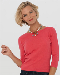 Coral cashmere sweater