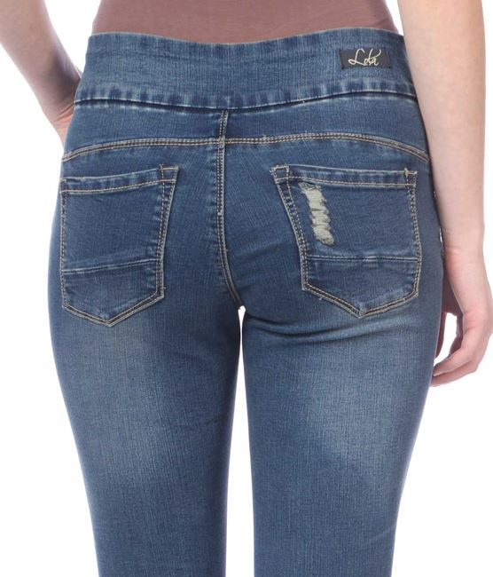 Julia Distressed Starry Night jeans by Lola Jeans