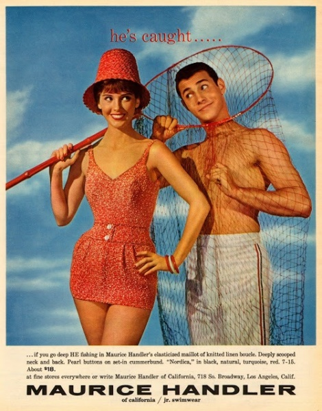 Maurice Handler Original swimwear ad from 1960's