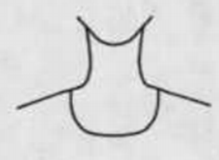 Scoop neckline