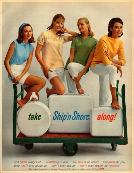 Ship N Shore shirts ad from the 1960's