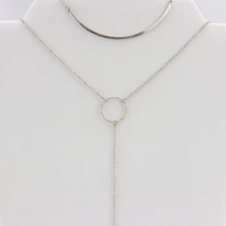 Smile bar layered necklace
