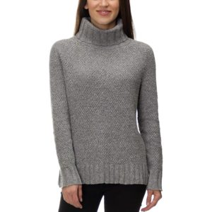 Turtleneck collar on a sweater