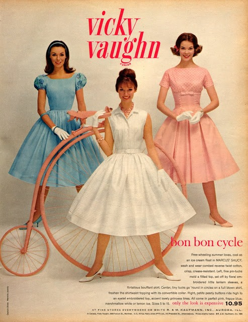 Vicky Vaughn junior dresses advertisement from the 1960's.