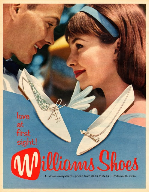 Williams Shoes ad circa 1960's