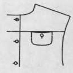 Yoke or horizontal design seam pocket