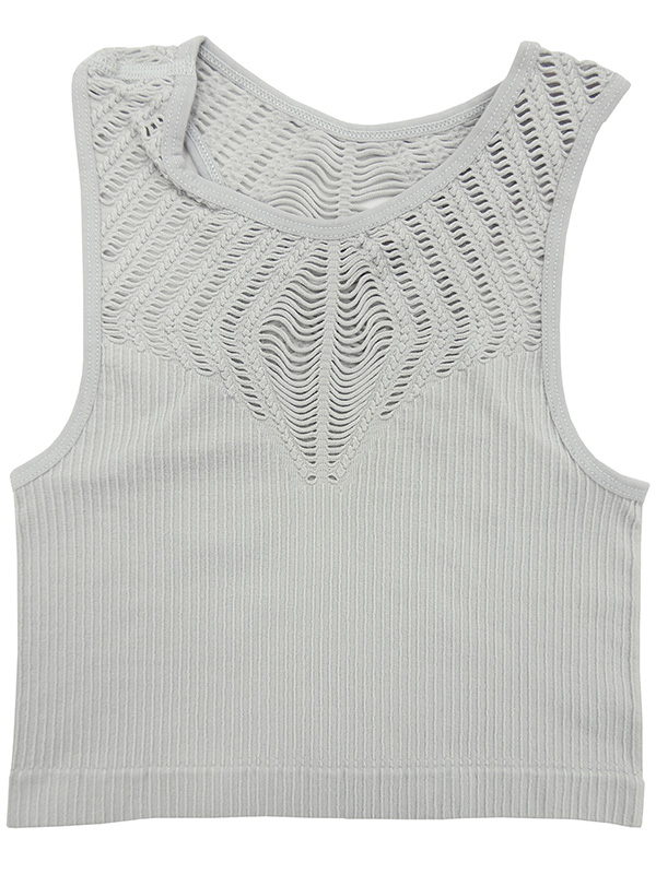Hi-neck Racer-back Crop Top
