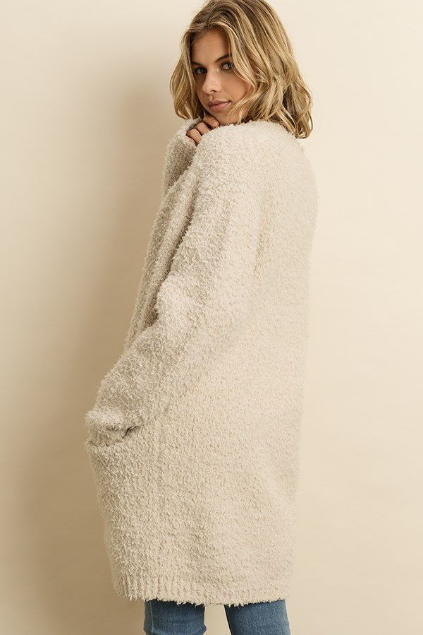 Ultra soft teddy cardigan sweater