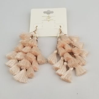Bunched tassel earrings