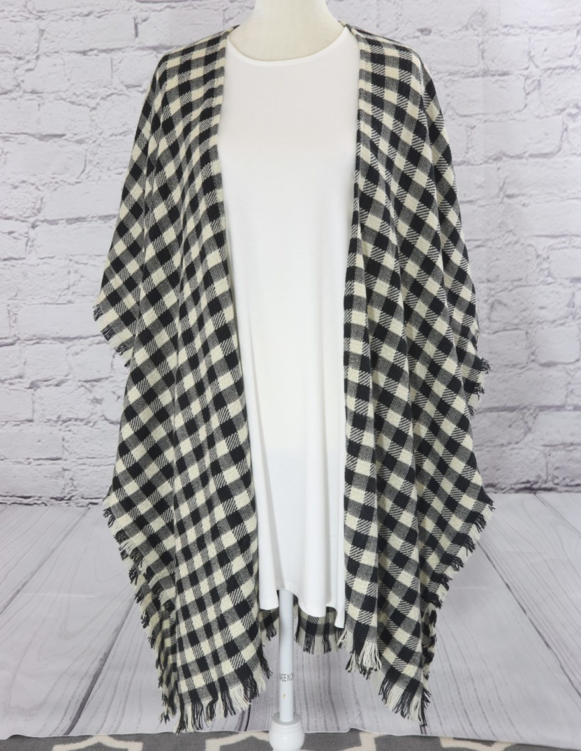 Light and comfy checkered kimono