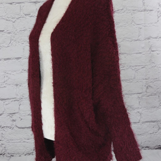 Ultra soft textured crochet sweater jacket