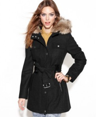 Coat on hourglass figure