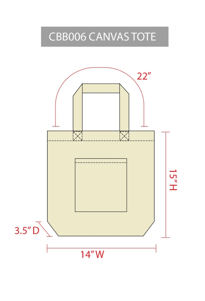 Coffee Now Water Later canvas tote bag dimensions