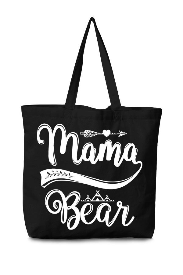 Mama-Bear-canvas-tote-bag-black-front