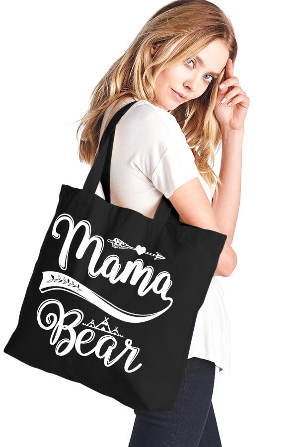 Mama-Bear-canvas-tote-bag-black-hanging