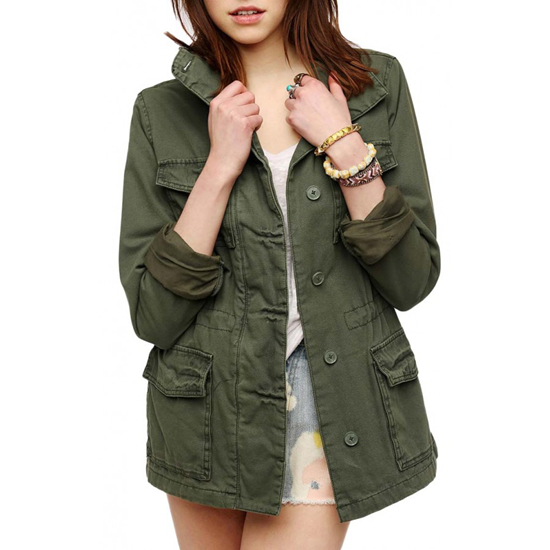 Military jacket with multiple pockets