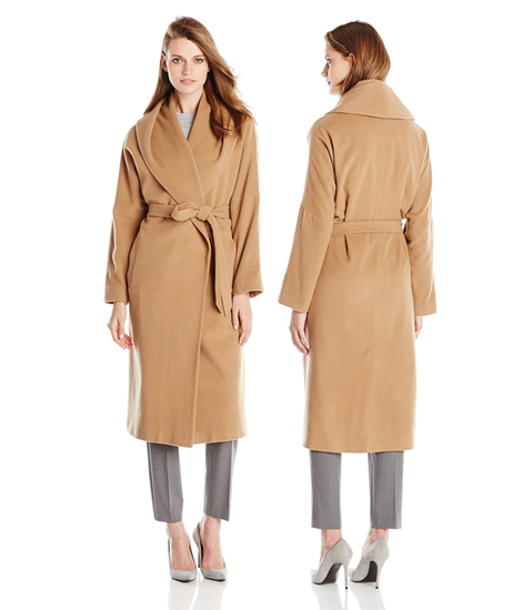 Women's wrap coat