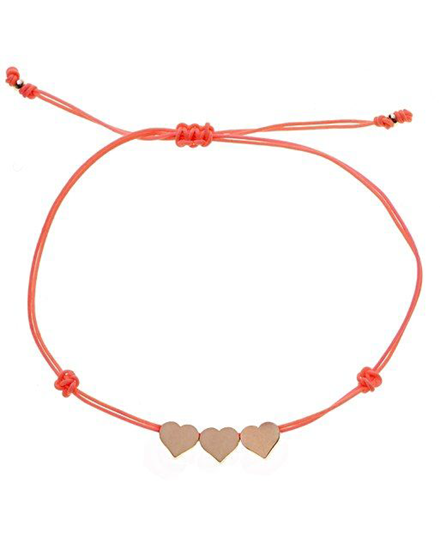 Color of the Year 2019 Living Coral - necklace with gold pendants