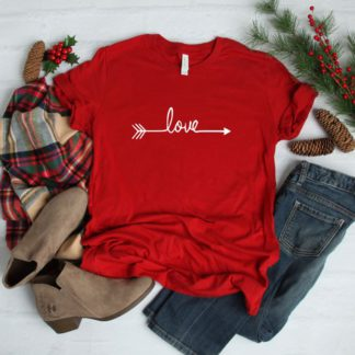 Valentine love arrow short sleeve Bella Canvas T-Shirt