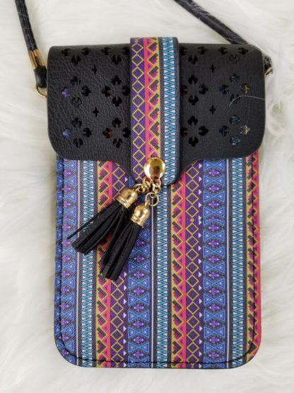 Cellphone cross-body purse black