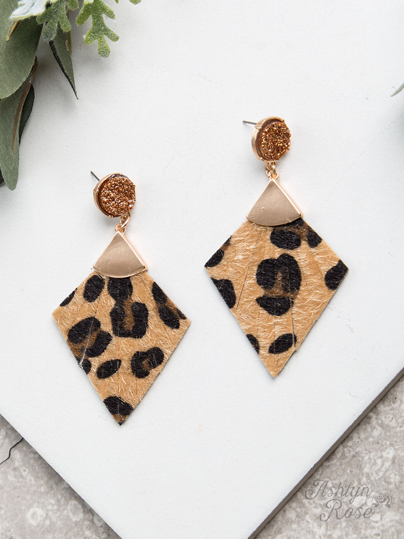 Delightfully Deco Leopard Earrings