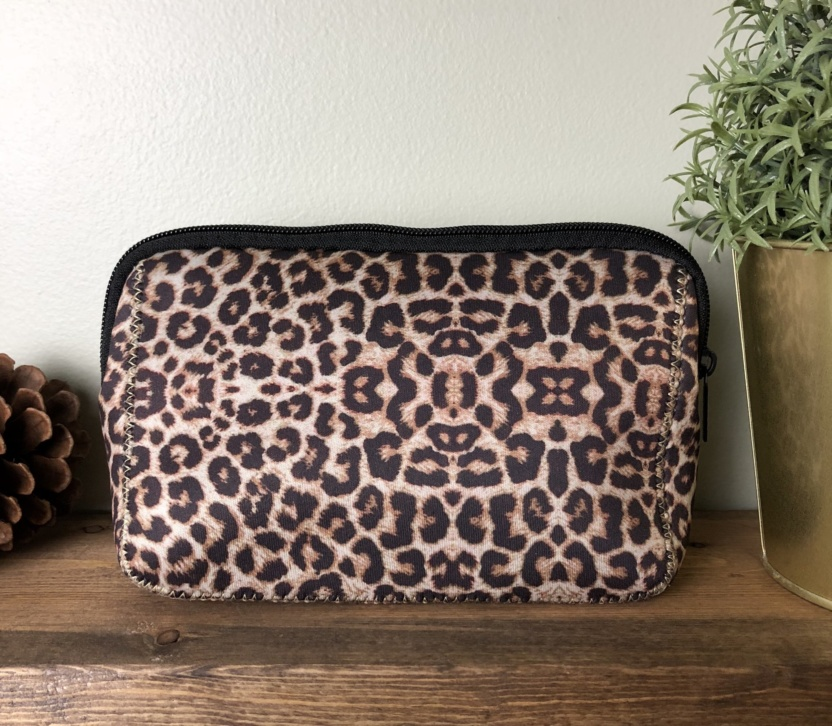 Leopard Neoprene Collection cosmetic bag