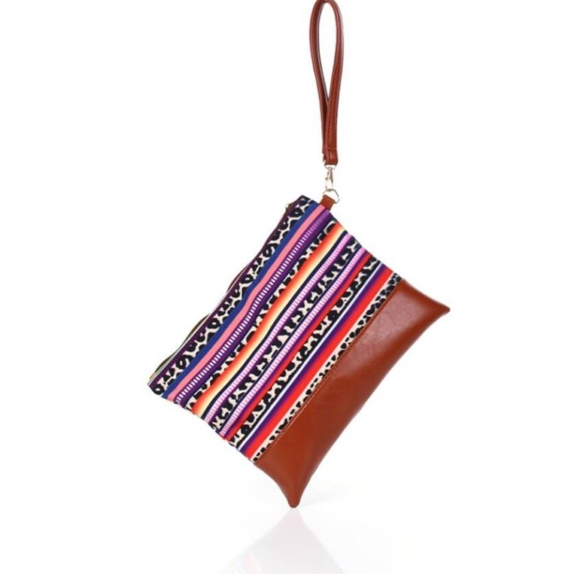 Serape Performance Poly Canvas clutch bag