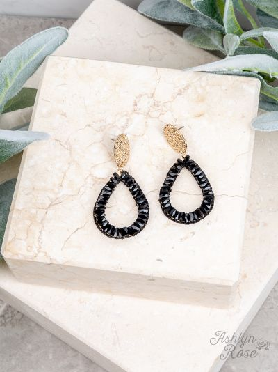 So In Style Drop earrings - Black