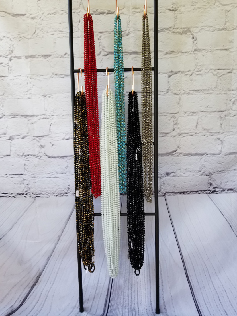 60-inch 8mm and 6mm necklaces