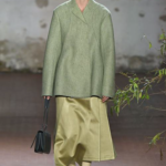 Pickle green top with olive green skirt
