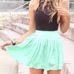 Seafoam green skirt